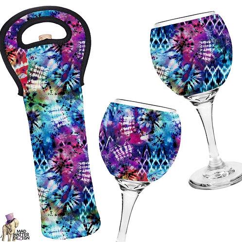 Tie-Dye Fun Wine Cozy Set