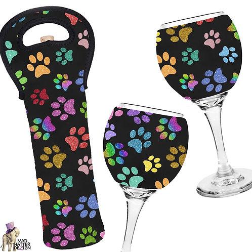 Glitter Paws Wine Cozy
