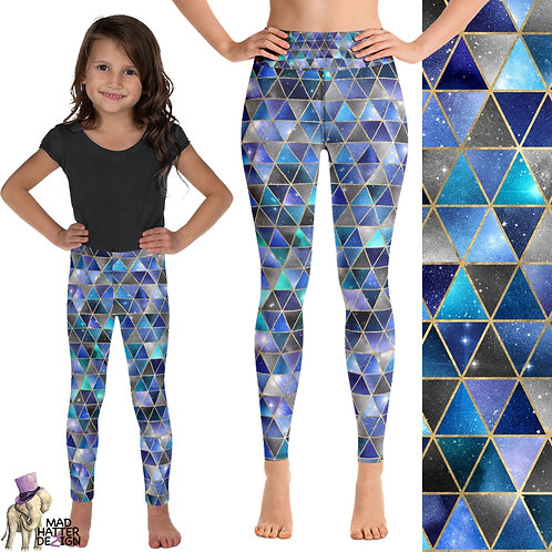 Isometric Blue Leggings