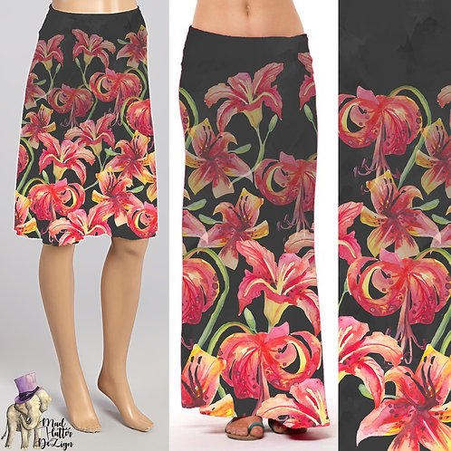 Tiger Lilies Skirt