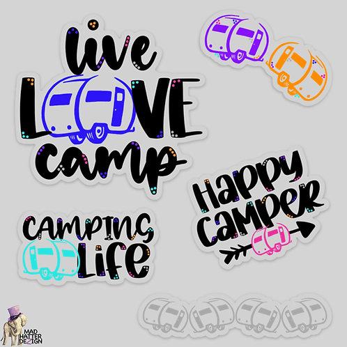 WS: Happy Camper Sticker Set