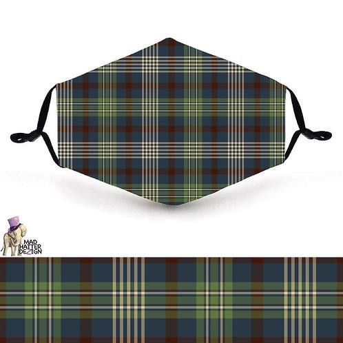 Fishing Plaid Mask