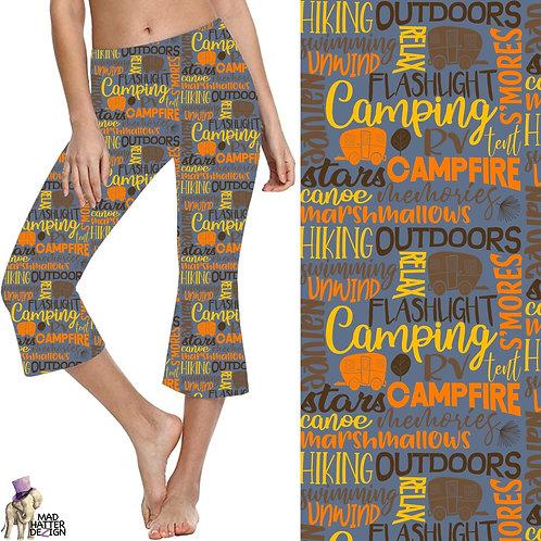 WS: Camping Subway Art Yoga Capris