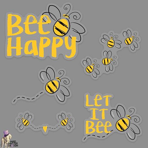 WS: Bee Happy Sticker Set