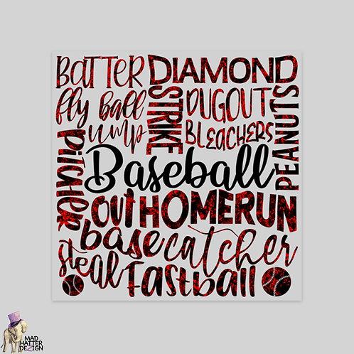 """WS: Baseball Subway Art (5"""")"""
