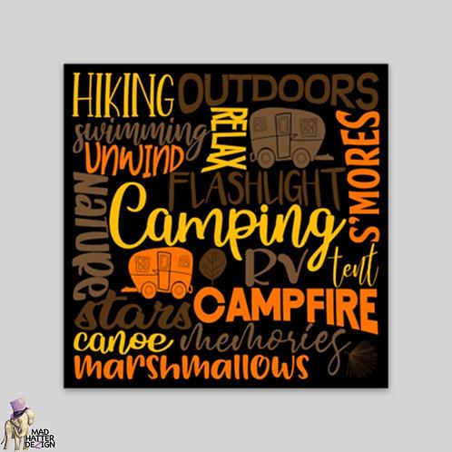 WS: Camping Subway Art Magnet