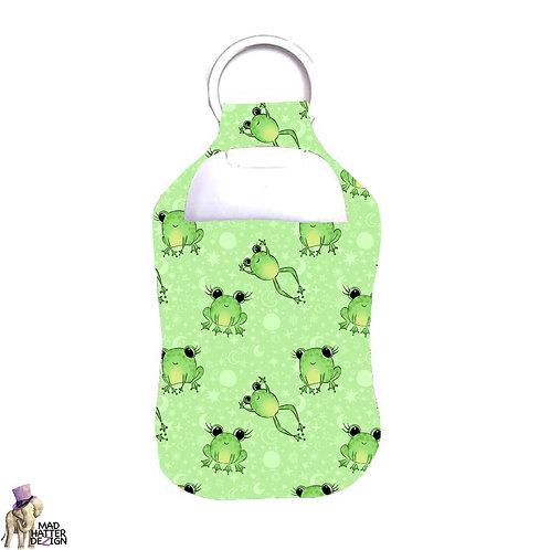 Frog Hop Sanitizer Keychain