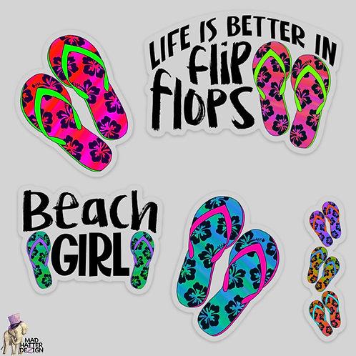 WS: Flip Flops Sticker Set