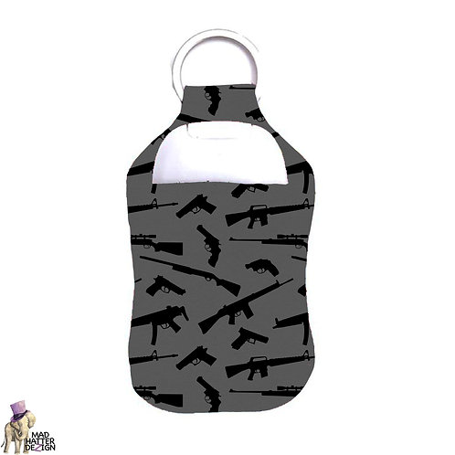Defend the 2nd Black Sanitizer Keychain