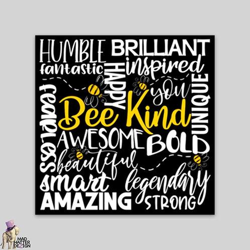 WS: Bee Kind Subway Art Magnet