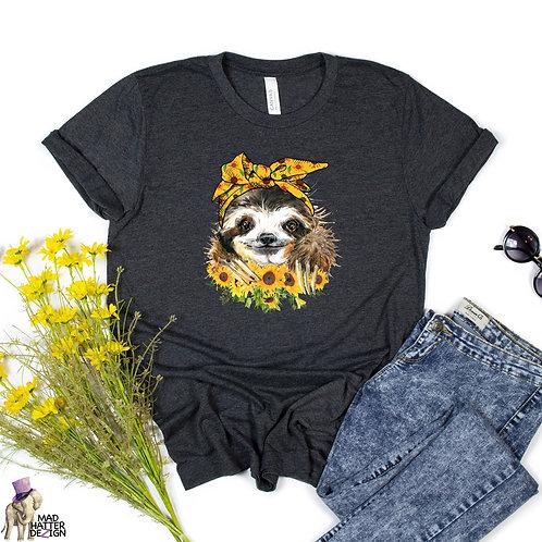 Sunflower Sloth Tee