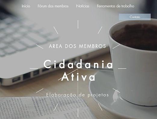 Cidadana Ativa; separater Mitgliederbereich für die Online-Plattform