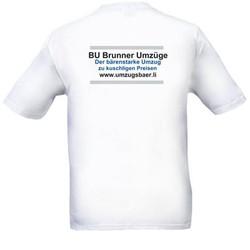 T-Shirt, Rückseite