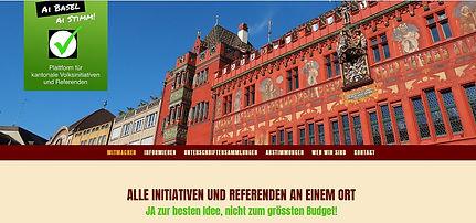 Ai Basel, ai Stimm; Online-Plattform für kantonale Volksinitiativen in Basel-Stadt