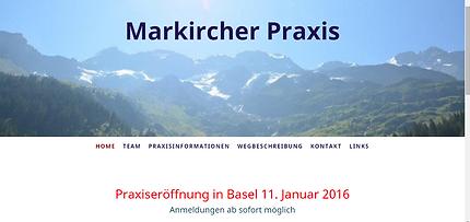 Website Markircher Praxis
