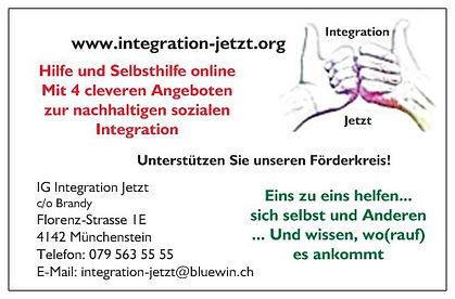 Visitenkarte Integration Jetzt