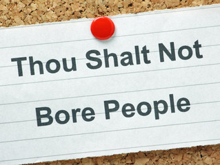 Thou shalt not preach!