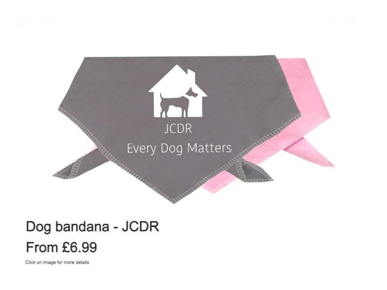 """Dog Bandana - """"JCDR"""""""