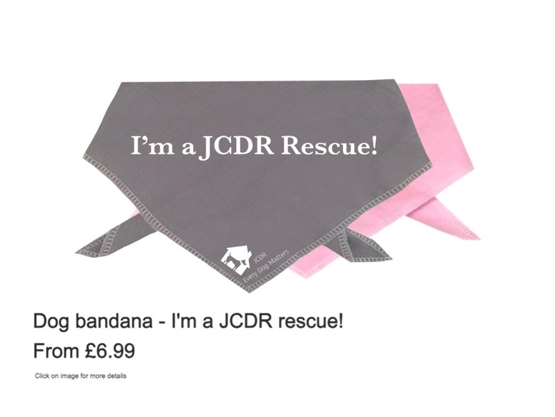 "Dog Bandana - ""I'm a JCDR rescue"""