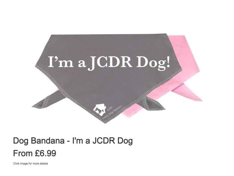 """Dog Bandana - """"I'm a JCDR Dog"""""""