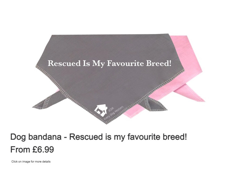 """Dog Bandana - """"Rescued is my favourite breed"""""""