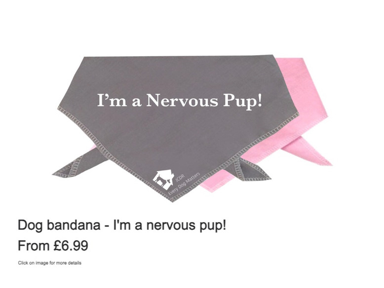 "Dog Bandana - ""I'm a nervous pup!"""