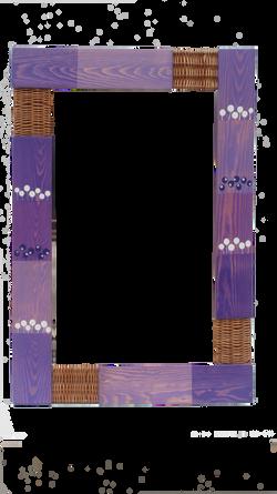 Espejo violeta círculos