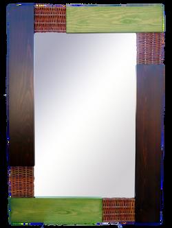 Espejos Verde y nogal