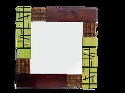 Espejo Verde-nogal