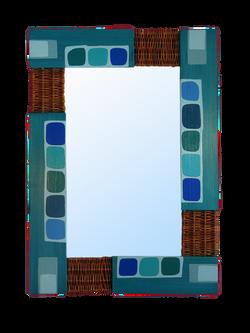 Espejo ponpas azules