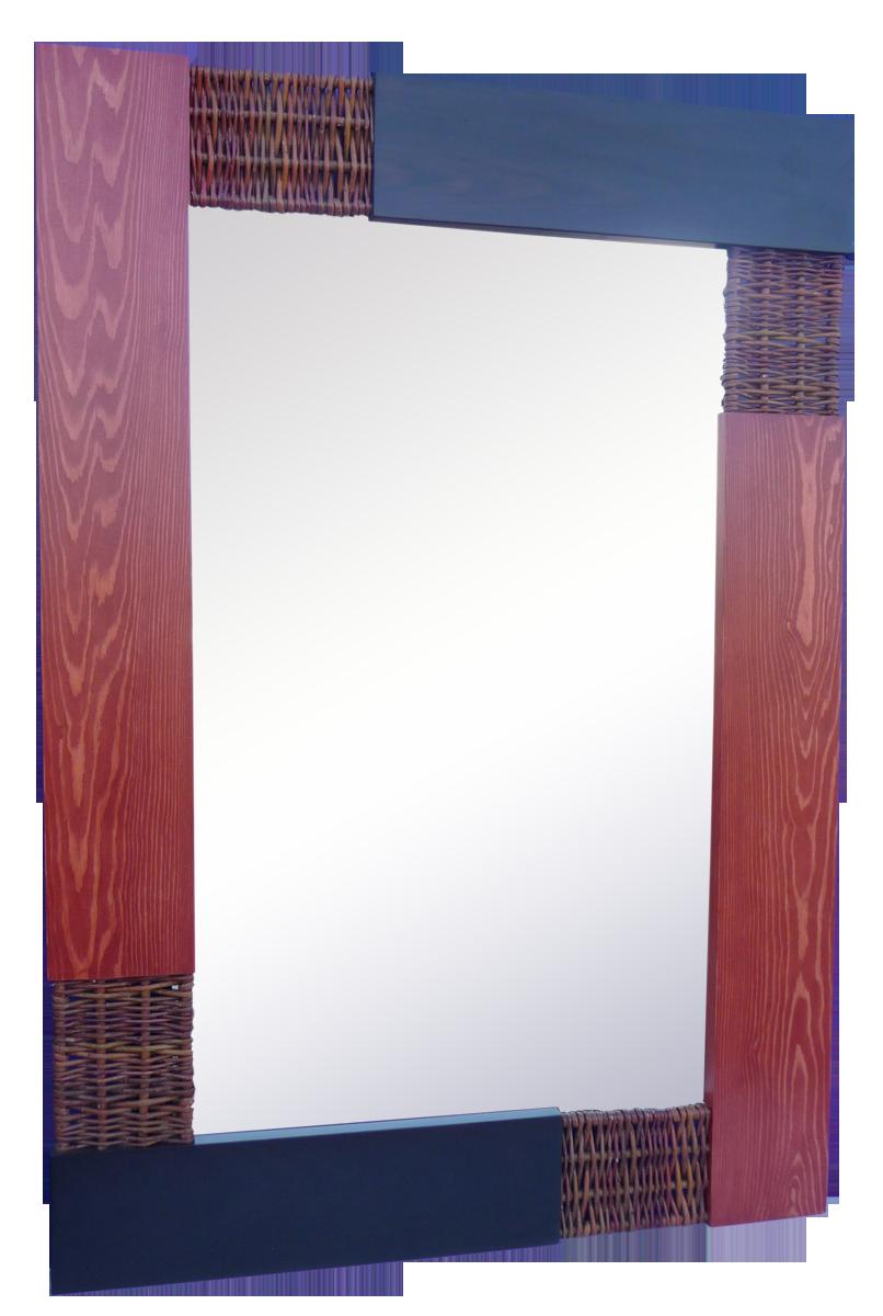 Espejo rojo y benge