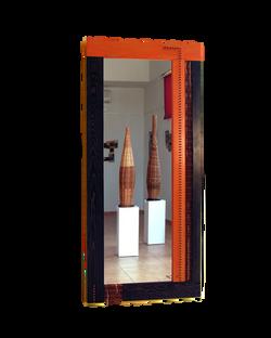 Espejo doble naranja