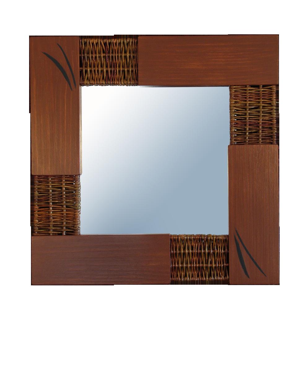 Espejo marrón