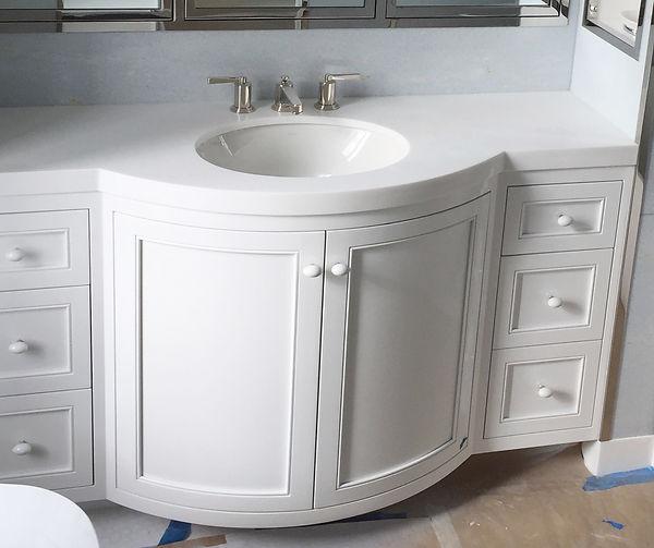 Beautiful Satin White Vanity.