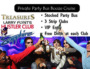 Party Bus, Booze Cruise, Strip club hop, Bachelor Party