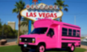 Las Vegas Pink Party Bus, Bachelorette, Wedding, Pink Limousine