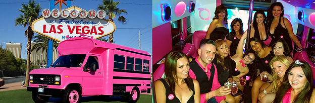 PINK Party Bus, Bachelorette Limo, Las Vegas Party Bus
