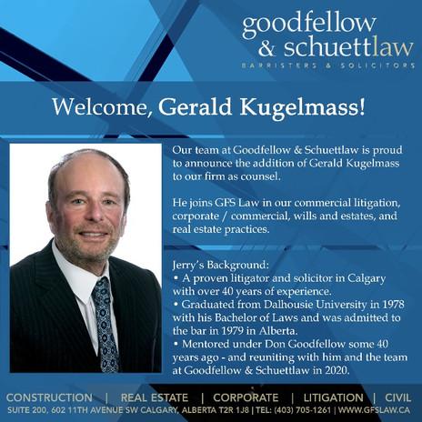 WELCOME: GERALD KUGELMASS