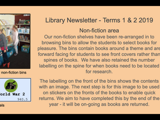 Library Newsletter Term 1&2