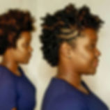 Beautiful before and after of a perm rod