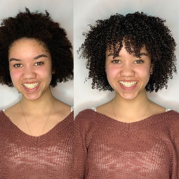 Amazing before and after Curly Cut a' La