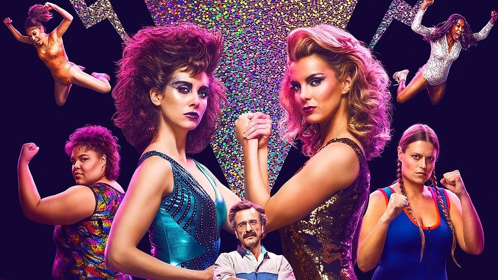 """""""Glow"""", cartaz da primeira temporada disponível na Netflix."""
