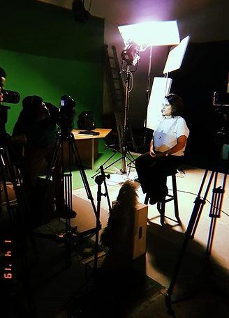 Bastidores da gravação dos documentários