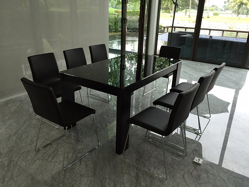 Glass Top Dining Table (DTG6#07)