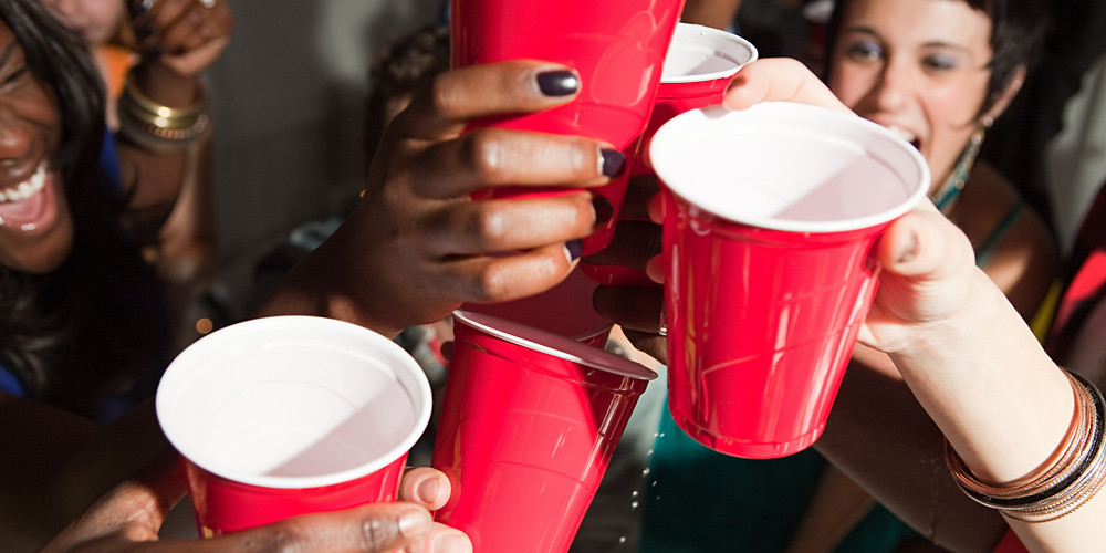 College Party Solo Cups Drinking Chug