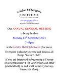 JUBILEE HALL ANNUAL GENERAL MEETING