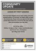Safer Neighbourhood Team Street Surgery