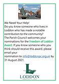 Freedom of Loddon Award