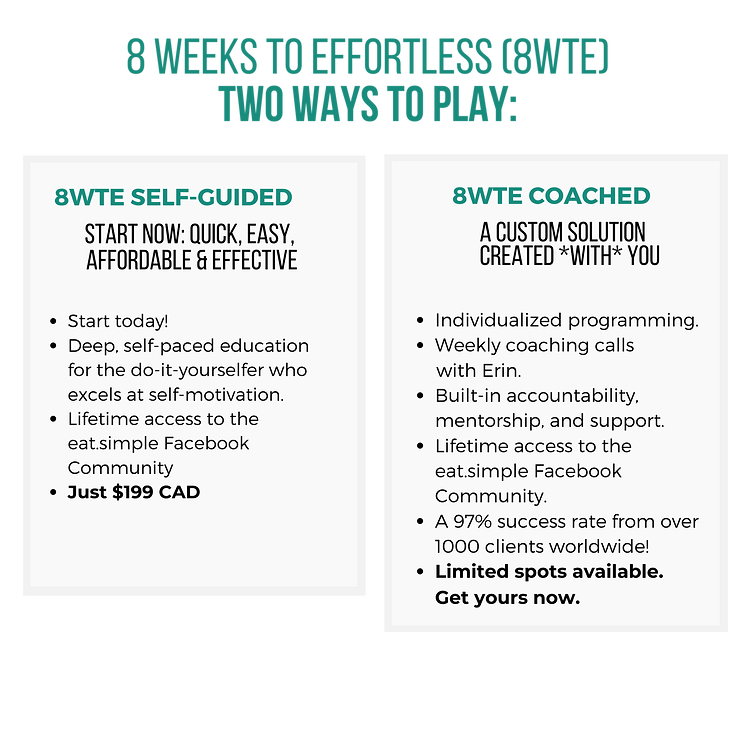 8 weeks to effortless (8wte) two ways to