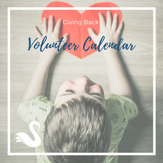 GIVING BACK volunteer calendar | Spring 2018